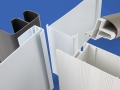 PAL Extrusion plastic custom trade profiles including metallic PVC