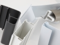 PAL Extrusions desk cable carrier, cavity wall profile, door frame extrusion