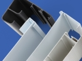 PAL Extrusions rigid plastic profiles includes a desk cable carrier and cavity wall bridging profiles