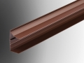 brown poly carbonate roof end capping profile section extrusions plastic upvc trim